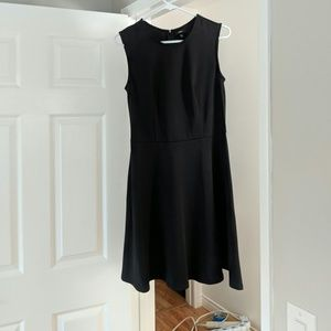 Black stretchy fit n flare sleeveless dress